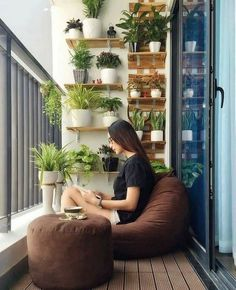 Apartment Balcony Decorating Apartment Balconies Apartment Ideas Small Living Room Design Small Living Rooms Living Room Designs Balcony Plants Balcony Design Watering Cans Small Balcony Design, Small Balcony Garden, Small Balcony Decor, Balcony Plants, House Plants Decor, Small Patio, Balcony Ideas, Balcony Gardening, Small Balconies