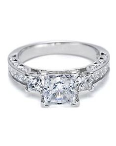 3-stone engagement rings to represent your past, present, and future. Nice idea, but not the one!