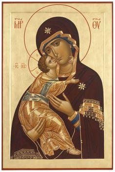 Panagia and the Christ Child madre di Dio di Vladimir