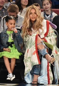 Beyoncé & Blue Ivy at the NBA All-Star Game 19th February 2017