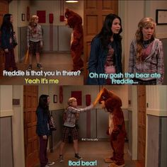 Carly, Sam, Freddie. This was one of my favorite moments! I laughed so hard!