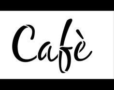 Cafe Word Art Stencil  Casual Script  Select Size  por StudioR12