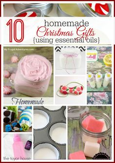 Essential Oils, Young Living, Homemade Gifts With Essential Oils
