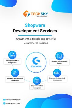 The client turned to #Tecksky searching for the best solutions for his e-commerce business development, maintenance, and support based on an #eCommerce platform Shopware. Our #Shopware experts have got great exposure to the latest Shopware technologies to deliver nothing less than brilliance. Reach Us Today at info@tecksky.com #WebDev #shopware #websitedevelopment #webdevelopment #webdeveloper #webdevelopmentcompany #ecommerce #entrepreneur #shopwaredevelopment #tecksky Ecommerce Solutions, E Commerce Business, Web Development Company, Mobile App, Searching, Flexibility, Entrepreneur, Platform, Technology