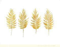 Golden Leaves - 8 x 10