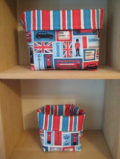 Handmade London theme fabric basket organiser by SunnyBunnyCraft, £6.00