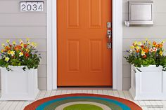 Make a welcoming first impression with stylish accessories or a fresh color palette to update your front entry's style.