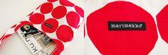 【取扱い終了】marimekko/PIENET KIVET/ショルダーバッグ(ホワイト×レッド) - 北欧、暮らしの道具店