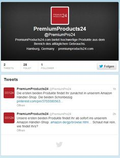 PremiumProducts24.com auf Twitter: Follow us on Twitter
