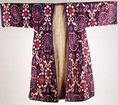 Antique silk Ikat kaftan
