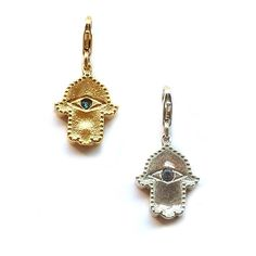 Hamsa detachable charms by Sophia & Chloe--great for adding to your favorite charm bracelet or necklace! $104