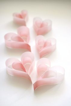 """syflove: """"pink paper hearts """""""