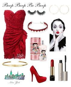 """Betty Boop"" by julia-sal ❤ liked on Polyvore featuring Dolce&Gabbana, Lancôme, Ilia, Simons, Jean-Paul Gaultier, Betty Boop and Anita Ko"