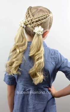How to make a woven braid twist in a little girl's hair (or in yours!)