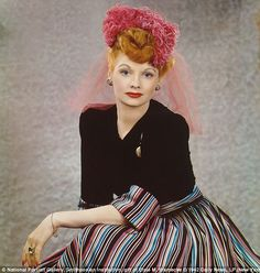 beautiful color photo of Lucille Ball