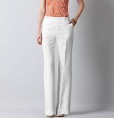 ShopStyle: Marisa Sailor Front Linen Trousers