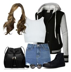 """""""JB concert"""" by directioner-123-ii ❤ liked on Polyvore featuring moda, LE3NO, Glamorous, Topshop, Converse, Kate Spade, Yves Saint Laurent i JBiebsForBree"""