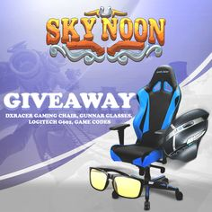 Win DXRacer Gaming Chair, Gunnar Glasses, Logitech G602 & Game Codes