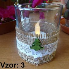 Sklenený svietnik Jarko - Sviečka - S čajovou sviečkou LED (plus 1€), Vzor - Vzor 3