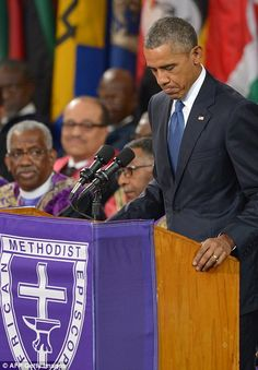 Obama's amazing grace: President gives Clementa Pinckney's eulogy in Charleston | Daily Mail Online