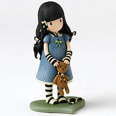 Forget Me Not Figurine - With a hint of nostalgia which instils comfort and tranquility, these Gorjuss™ figurines reflect the beauty and precious nature of the Suzanne Woolcott artwork.