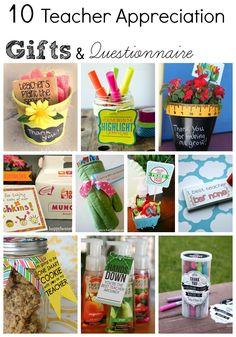 Teacher Appreciation Week: Questionnaire & Gift Ideas - Eclectic Momsense #teacherappreciation #gifts