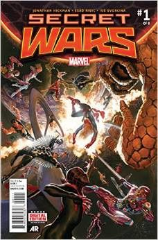 *High Grade* (W) Jonathan Hickman (A) Esad Ribic (CA) Alex Ross • THE FINAL INCURSION IS HAPPENING! • THE MARVEL UNIVERSE IS COLLIDING WITH THE ULTIMATE UNIVERSE! • AND NEITHER WILL SURVIVE!