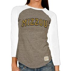 Missouri Tigers Women's 3/4 Sleeve Boyfriend Ragla