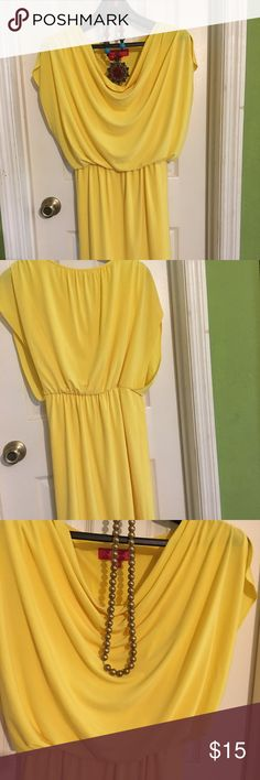 nine and company dress yellow flowy dress by nine and company. no rips snags or stains. Nine & Co. Dresses Midi