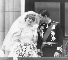 . A shy Diana, Princess of Wales, and Prince Charles on the balcony of Buckingham Palace after their wedding at St. Paul\'s Cathedral, July 29, 1981, in London. (AP Photo)