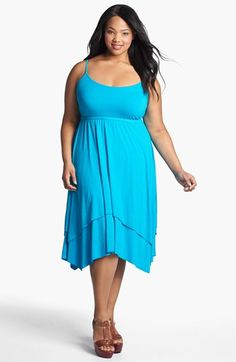 Three Dots Layered Skirt Sundress (Plus) available at #Nordstrom