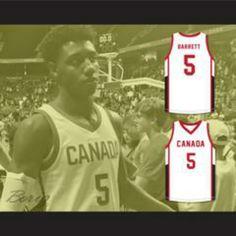 38ad0d69eecc R.J. Barrett 5 Canada White Basketball Jersey