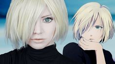 Cosplay Manga ☆ Yuri Plisetsky Makeup Cosplay Tutorial Yuri on Ice ユーリ! on ICE ☆ - Yurio Cosplay, Anime Cosplay Makeup, Cosplay Outfits, Cosplay Ideas, Anime Hairstyles In Real Life, Ice Makeup, Cosplay Makeup Tutorial, Yuri Plisetsky, Amazing Cosplay