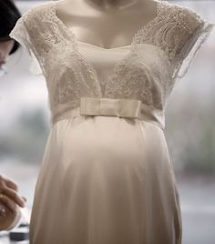 The Georgia Maternity Wedding Gown by Tiffany Rose