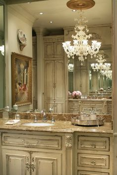 Habersham Vanity Design great colour and style for wood work see many more photos from this home including bath at 90