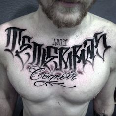 Tattoo Evgeniy Sidorov - tattoo's photo In the style Graphics, Male, Lettering, Fon Tattoo Font Styles, Tattoo Lettering Design, Tattoo Font For Men, Chicano Lettering, Tattoo Script, Tattoo Fonts, Tattoo Designs, Chest Tattoo Lettering, Text Tattoo