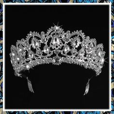 (This is an affiliate pin) SNOWH Wedding Tiara Crowns for Bride - Royal Bridal Headpiece Rhinestone Princess Tiaras for Women, CZ Crystal Pageant Birthday Headbands Hair Jewelry with Comb, Silver+Clear Rhinestone Headband, Rhinestone Wedding, Headpiece Jewelry, Hair Jewelry, Gold Bridal Crowns, Wedding Tiaras, Princess Tiara, Crystal Crown, Tiaras And Crowns