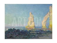 The Needle of Etretat, Low Tide; Aiguille D'Etretat, Maree Basse, 1883 Giclee Print by Claude Monet at Art.com