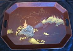 Vintage Tole TrayHand Painted Occupied Japan by Timeless Elegance, 1940s, Shops, Hand Painted, Japan, Unique Jewelry, Handmade Gifts, Tray, Vintage