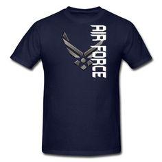 Custom Air Force Logo T-Shirt   Spreadshirt   ID: 9204417