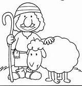 Colouring Pages For The Parable Of Lost Sheep
