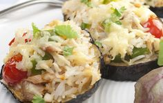 Spicy Eggplant Rounds with Tuna  http://starkist.com/recipe/spicy-eggplant-rounds