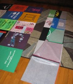 Step by step tshirt quilt