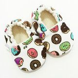 Sprinkled Donuts Soft Sole Baby Shoes | Sahnda Marie Kids