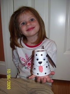 Make a dalmatian from a Styrofoam cup for fire safety week.