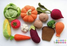 Crocheted Vegetables by Olga of OlinoHobby