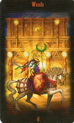 Legacy of the Divine Tarot: 6 of Wands