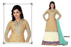 Buy Cream and White Faux Georgette Straight Salwar Suit, Designer Long Salwar Suit of the women are still fashion conscious thus this Salwar Suit has seen various changes in terms of designs, style, and patterns. Glamour Beauty designer Salwar Suit collections are always liked by women in Indian Style.