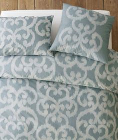Organic Ikat Scroll Duvet Cover