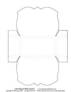 Label-shaped gift box template: Template & Printable Patterns - Splitcoaststampers